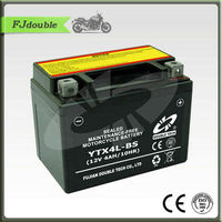 sealed maintance free lead acid motorcycke batttery12V4AH