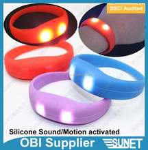 party high quality glow in the dark vibrating wristband