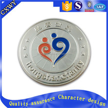 Hongshan charity custom die cast metal badge