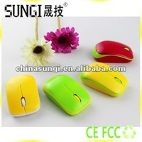 Normal Size Colorful Laptop 3D Wireless Optical Mouse