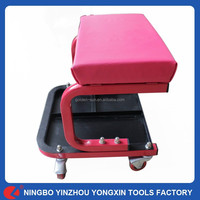 Car Garage Repair Vehicle Tools With 4 wheels Steel Car Seat Chair With Tray