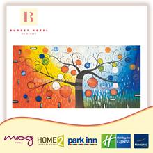 Avellana colorido árbol de los deseos Hotel de diseño decorativo del papel pintado