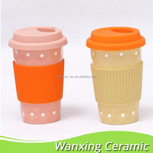 Starbucks silocone mug, double ware travel mug, ceramic travel mug take away.