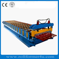 High quality corrugated aluminium metal roof panel roll forming machine