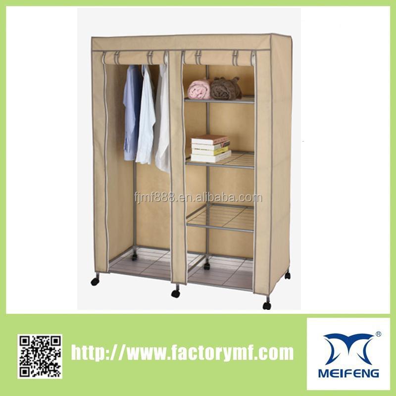 2015 Diy Bedroom Furniture Folding Fabric Wardrobe With