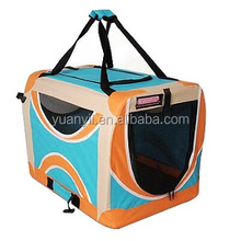 New design large dog carrier collapsible pet travel crate transport dog soft crate cage