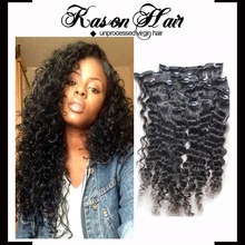 Best Selling Products 2015 Virgin Brazilian Clip In Hair Extensions For Black Women Hair Clip Kason Hair Products