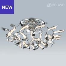 Art deco ceiling light LED 54W Lights birdsnet Ceiling Lamps iron aluminum acrylic chrome Finish
