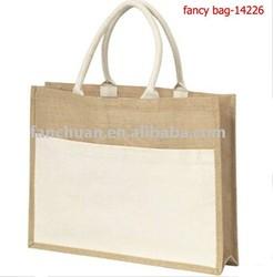 High quaity plain vanity jute tote bag have stock