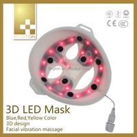 2015 New Product skin care silicone female mask biofeedback LED Mask