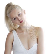 Multi- layers Tassels Shoulder Necklace Shoulder Chains for Women