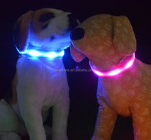 Single striped led dog collar nighted collar with led light for pet