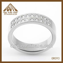 whoselase high quality stainless steel engagement ring
