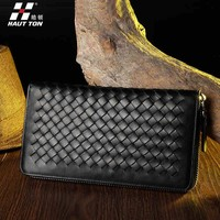 Christmas Gift Promotional Price New Arrival Men's Genuine Leather Fashion Money Clip Clutch Bag