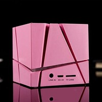 Wireless led mini bluetooth speaker with fm radio square shape