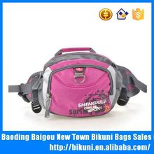 Hot selling colorful nylon active promotional famous brand red waist bag