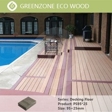 be used for outdoor floor antiskid the swimming pool floor covering waterproof and healthy outdoor decking flooring wpc slat