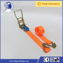 GS approved polyester webbing ratchet tie down straps