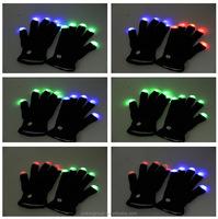 led gloves as gifts/LED Flashing Fingertips Gloves/LED Rave Finger Lighting Gloves