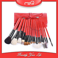MSQ Chinese red goat hair 18pcs cosmetic brush set