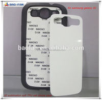 2d Sublimation Phone Case TPU +PC with Metal Sheet for Samung S3 Phone Case for Custom