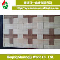 Natural Woven bamboo veneer for home decoration