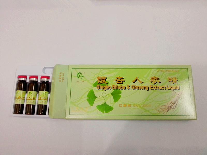 Энергетический напиток - гинкго билоба и женьшень ротовой жидкости