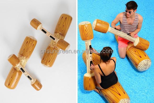 Log Flume Joust Set Inflatable Log Jousting Set