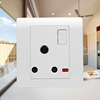 3 round pin socket 15A and 1 gang switch MF wall switch