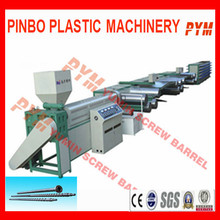 Single screw and barrel plastic extruder for tape drawing machine