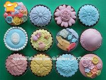 6 patrones diferentes de la taza de molde de la torta