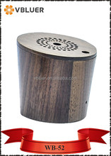 Mobile Phone Use WB-52 Cone Shape Mini Bluetooth Wooden Speaker