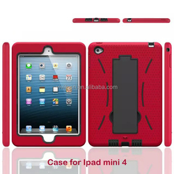 Special design PC+TPU shockproof armor tablet case for ipad mini 4