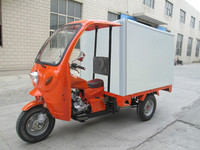 hot sale three wheel van cargo tricycle with cabin insulation