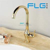 gold colour kitchen faucet brass body
