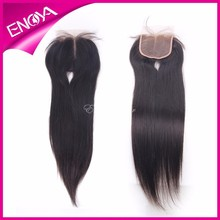 6A Beauty Products Brazilian Human Virgin Hair Cheap Straight Lace Closure Middle Part