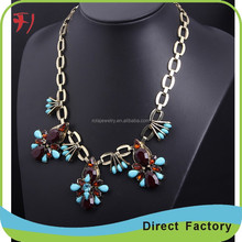 Wholesale Lovely Flower With insects High Quality Rhinestone Necklace