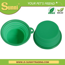 Stocked silicone travel dog bowl