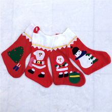 Hot sale classical Non-woven fabric Christmas sock