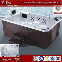 biggest outdoor spa bathtub for 10 person, wood tub skirt adult french spa products, water jet massage bathtub