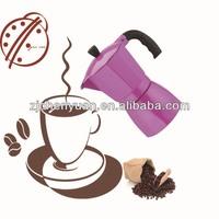 china manufacturers stove top 3cup aluminum italian espresso coffee brands