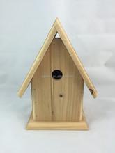 Fsc derictional caliente venta de madera birdhouse / jaula de pájaro, decoración jardín