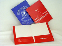 Custom printed school folders/pocket folders printing with lamiantion