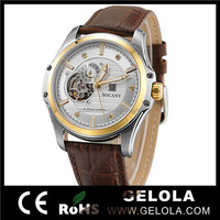 Alibaba Express Fashion WWW Youtube Com Watch,Brown Men Genuine Leather Western Wrist Watches,Fashion High Quality Brand Watches