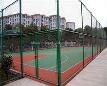 Sports Ground & Playground Most Popular Security Fence chain link fence, Pvc coated chain link fence(factory)