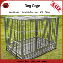 High Quality Competitive Price Commercial Heavy Duty Large Steel Dog Cage With Wheels And Lock System