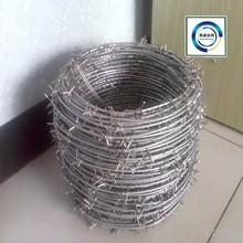 2015 électrique de fer barbelé galvanisé Wire10 # x12 # / Hot galvanisées placage barbelés
