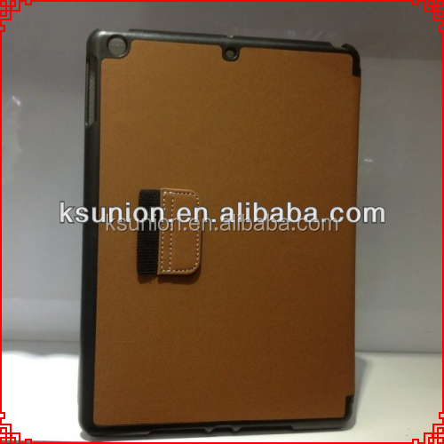 newest leather cover case for iPad air with stand,leather flip case cover for ipad air