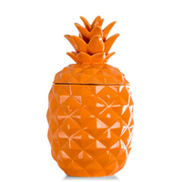 Hot Selling French Candle Burn Ceramic Pineapple Jar
