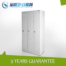 3door knock down modern metal bedroom wardrobe cabinets design with incredible price